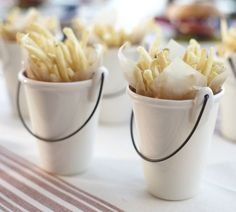 French Fries Serving Buckets