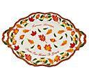 "Temp-tations 20"" Figural Harvest Oval Platter with Sentiment - H206213 — QVC.com"