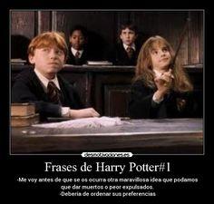 Resultado de imagen de frases de harry potter hermione