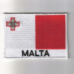 FLAG PATCH PATCHES Malta IRON ON COUNTRY EMBROIDERED WORLD FLAG