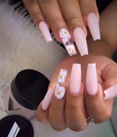 In look for some nail designs and ideas for your nails? Here's our list of must-try coffin acrylic nails for trendy women. Best Acrylic Nails, Summer Acrylic Nails, Baby Pink Nails Acrylic, Summer Nails, Perfect Nails, Gorgeous Nails, Aycrlic Nails, Coffin Nails, Blush Nails