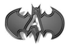 Alfabeto en el símbolo de Batman.
