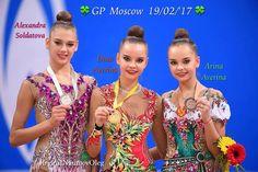 Dina AVERINA (Russia) was 1st @ All-Around competion @ GP Moscow 2017 ❤️❤️ Alexandra SOLDATOVA was 2nd & Arina AVERINA was 3th Photographer Oleg Naumov.