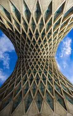 ♥ Symmetry of Azadi tower, Tehran, IRAN