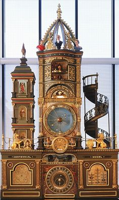 The Strasburg Clock, Strasburg France, in Strasburg's Notre Dame  Cathedral.  The clock features moving elements enacting the procession  of...
