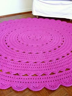 Hot Pink Alicia Doily Rug 150cm 60inch