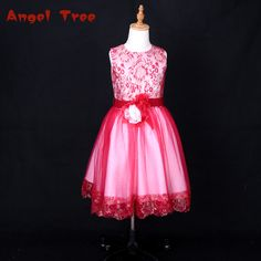 447b436dedf Don s Bridal Chinese Red Organza Flower Girl Dresses Knee Length For 3D Flowers  Sashes Ball Gown Embroidery Kids Gowns-in Flower Girl Dresses from Weddings  ...