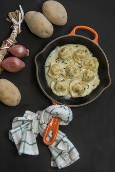 Cappellacci di patate e porcini con fonduta di taleggio