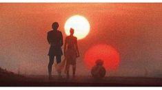 Ben and Rey on tatooine Rey Star Wars, Star Wars Art, Star Trek, Reylo, The Dark Side, Light In The Dark, Chewbacca, Kylo Ren And Rey, Star War 3