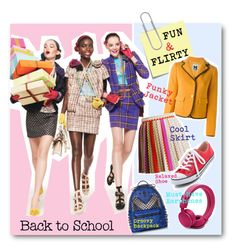 #Back to School - Fall Fun & Flirty by nikkisg on Polyvore featuring M Missoni, Missoni, Converse, MCM, Post-It and BackToSchool