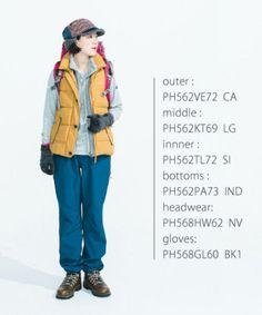 スタイリング2 Mountain Wear, Mountain Style, Outdoor Wear, Outdoor Outfit, Sport Fashion, Girl Fashion, Womens Fashion, Hiking Dress, Mountain Fashion