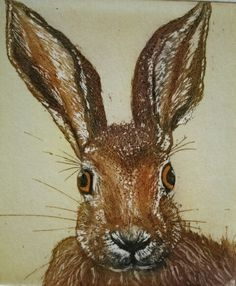 Mad Hare Day - etching. Sally Winter