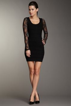 Wow Couture Lace Sleeved Dress on HauteLook