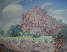Elephant Castle, Phalaborwa - JH Pierneef Castle Painting, Elephant And Castle, South African Art, Africa Art, Witch Art, Fine Art Auctions, Artist Names, Landscape Paintings, Landscapes