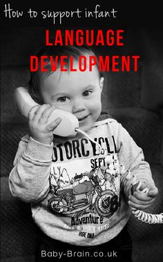 Baby talk - how to support infant speech & language development, typical developments at 0-12 months. Baby-Brain.co.uk