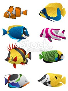 tropical fish drawings - Google Search
