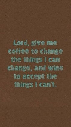 coffee & wine