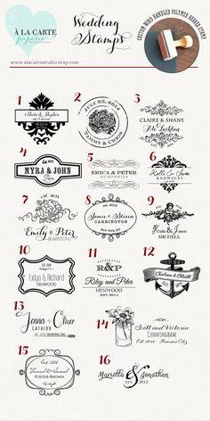 Wedding Stamps Wedding Monogram Rubber Stamps by alacartestudio, $39.00