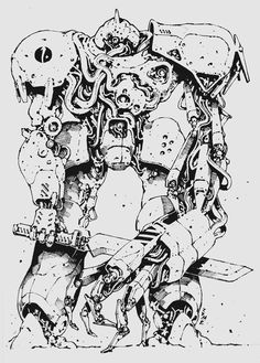 Cyberpunk Aesthetic, Cyberpunk Art, Drawing Reference Poses, Art Reference, Comic Style, Robots Drawing, Architecture Drawing Art, Dark Creatures, Alien Concept Art