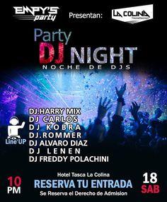 """No puedes faltar este sábado 18!! #altagraciadeorituco  con la Party DJ NIGHT """" Noche de DJs""""  Contaras con los mejores tragos cócteles a cargo de la música un Línea Up de lujo:  #DJ.Carlos #DJ.Kobra @harryjahen #DJ.Rommer @dj.alvaro.diaz @eldjlenen  @djfreddypolachini01  RESERVA TU ENTRADA YA!!  @empysparty  Lugar: tasca la colina  Vestimenta semi formal!!!! Estacionamiento para tu vehículo!! #TASCALACOLINA #EMPYSPARTY #portaldedjsEsRumba #party #rumbas #djs #like #sex #music #altagracia…"""