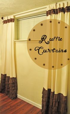 Ruffled Curtains - Creatively Living Blog @katiegoldsworth #diy #curtains