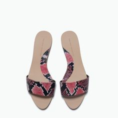 3070bb40fa9a Zara snakeskin slip on sandals (new) New and comes with the tag attached.