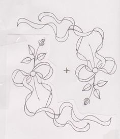 Nice floating ribbon for shadow work. Floral Embroidery Patterns, Embroidery Monogram, Machine Embroidery Patterns, Vintage Embroidery, Embroidery Applique, Ribbon Art, Sewing Art, Heirloom Sewing, Cross Stitching