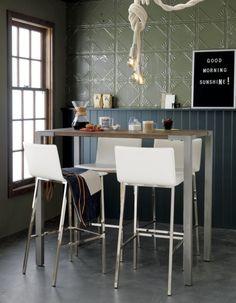 """Let's make this one shorter: Stilt 42"""" high dining table"""