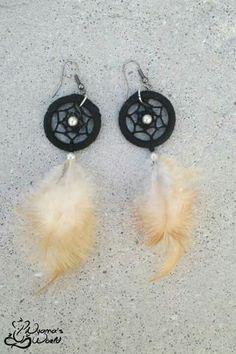 #earrings #dreamcatcher #black