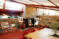 photos in Frank Lloyd Wright's studio, Taliesin West, Scottsdale, Arizona