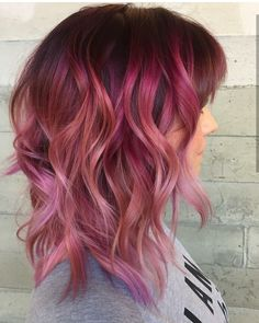By Butterfly Loft stylist Jacqui using color. Ombre Hair, Pink Hair, Hair Day, New Hair, Love Hair, Fall Hair, Pretty Hairstyles, Hair Goals, Hair Inspiration