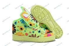 sports shoes 8f6d4 b6b40 Adidas Originals Jeremy Scott Yellow Flower Women s Running Shoes sneaker  adidas