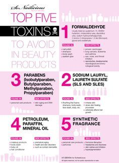 5 worst toxic chemicals in beauty products to avoid at all costs! Click through for more info.