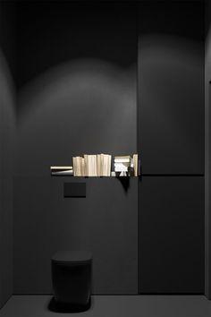 Unique Home Decor Cheap Office Decor, Cheap Home Decor, Contemporary Bathroom Designs, Modern Bathroom, Interior Design Inspiration, Bathroom Inspiration, Toilette Design, Dark Interiors, Elegant Homes