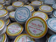 Lip balm personalizados María+Raúl www.lapompaquerie.com