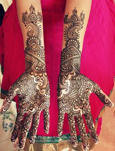 Shivani's bridal henna 2013 © NJ's Unique Henna Art