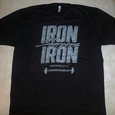 Mens Christian T-shirt Iron Sharpens Iron (2 color options)