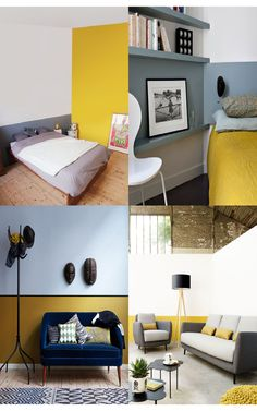 Two-color walls: Paint half to gain balance!