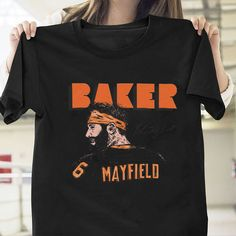 Baker Mayfield T Shirt Football Black Cotton Men S-6XL  fashion  clothing   8459644c7