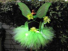 Tinker Fairy Custom Sewn 11 Pixie Tutu Tinkerbell by TiarasTutus. $30.00, via Etsy.