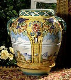 Majolica Deruta Large Urn Jar Intrada Italian Ceramics | eBay
