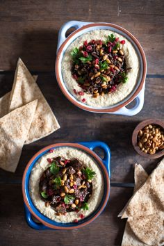 Spiced Beef with Hummus