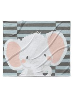 Elephant Velveteen Blanket by Kavka Designs at Gilt