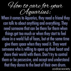 How to care for your Aquarius