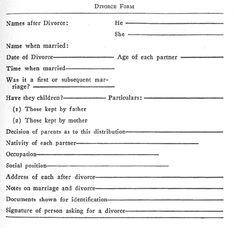 Divorce bill term paper