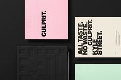 Good design makes me happy: Culprit Brand Identity by Studio South