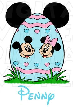 Mickey and Minnie Mouse Easter egg Digital Iron on transfer Mickey Mouse Kunst, Mickey Mouse Cartoon, Mickey Minnie Mouse, Easter Bunny Images, Disney Easter Eggs, Mickey Mouse Wallpaper, Happy Easter Day, Egg Art, Holiday Pictures