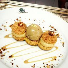 Regram @hungryatmidnight. Dessert du jour of yesterday. Paris Brest with coffee ice cream in the middle. #hoteldupalais #Biarritz #gastroart #theartofplating #chefofinstagram #lefooding #cheflife #chefstalk #gatronomy #dessertmasters #patry #patisserie #dessert #gourmand #frenchpastry #gastronogram #foodporn #foudepatisserie #instapastry #pastrylife #parisbrest #glace #icecream #coffee #praline #cafe by hoteldupalais