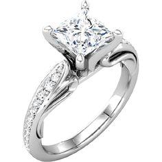 Nue Diamonds | Felicity $735   #engagementring #engagement #manmadediamonds http://www.nuediamonds.com/cheap_wedding_rings_solitaire_engagement_rings_Felicity_princess.html