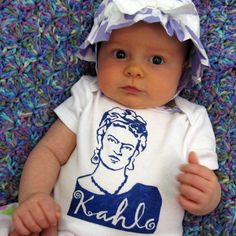 Hand Painted Frida Kahlo Baby Bodysuit or Kid's by daisylouise, $18.50